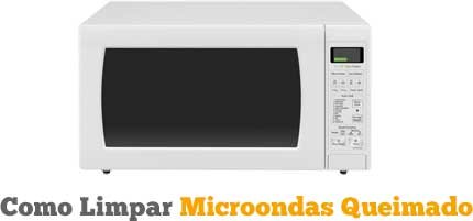 Como limpar forno microondas queimado