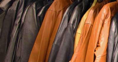 Jaquetas de couro.