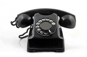 Telefone de baquelite.