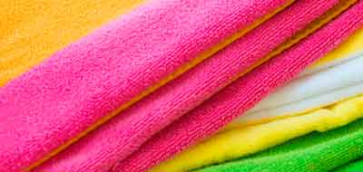 Como limpar toalhas de praia.