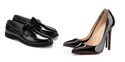 Como limpar sapato de verniz.