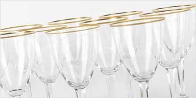 Como limpar copos de cristal.